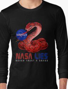 NASA Lies - Never Trust a Snake Long Sleeve T-Shirt