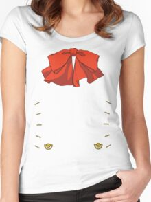 Persona 3 Aigis ribbon Women's Fitted Scoop T-Shirt