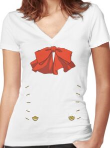 Persona 3 Aigis ribbon Women's Fitted V-Neck T-Shirt
