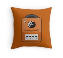 Orange Gamecube Throw Pillow