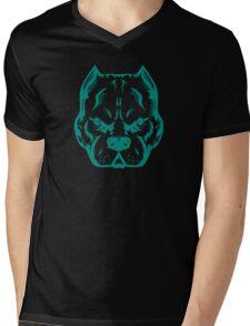 Blue Dog Mens V-Neck T-Shirt