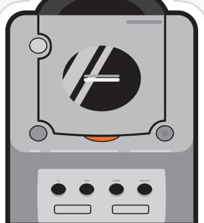 Silver Gamecube Sticker