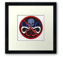 Anti Captain Hydra Framed Print
