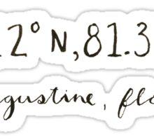 ST. AUGUSTINE COORDINATES Sticker
