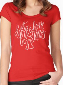 Let Freedom Ring Women's Fitted Scoop T-Shirt