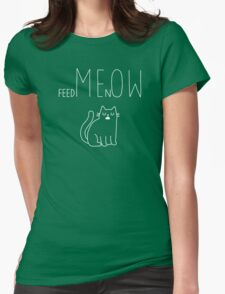 MEOW Womens Fitted T-Shirt