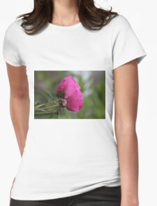 Peony blooming Womens Fitted T-Shirt