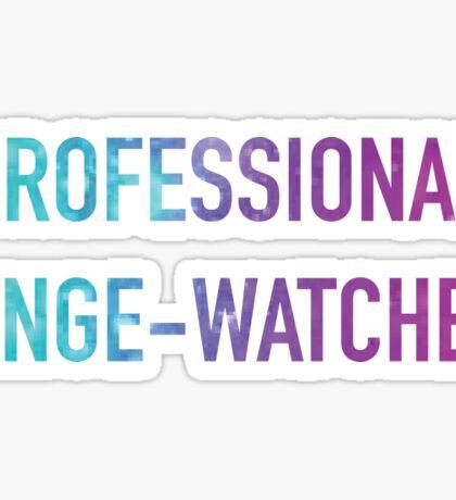 Professional Binge Watcher Multi Sticker