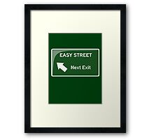 Easy Street Framed Print