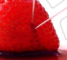 Strawberry Death Sticker