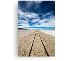Railway in Atacama Desert, Uyuni desert, Bolivia Canvas Print
