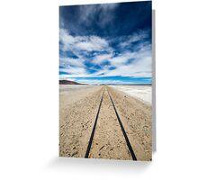 Railway in Atacama Desert, Uyuni desert, Bolivia Greeting Card