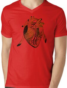 Empty Heart Mens V-Neck T-Shirt