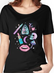 Girly Pastel Witch Goth Pattern Women's Relaxed Fit T-Shirt