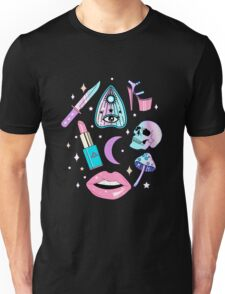 Girly Pastel Witch Goth Pattern Unisex T-Shirt