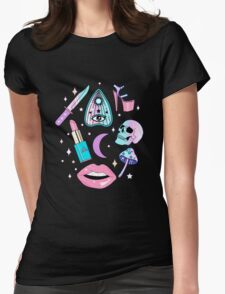 Girly Pastel Witch Goth Pattern Womens Fitted T-Shirt