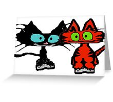 Cats Playing Video Games! Greeting Card