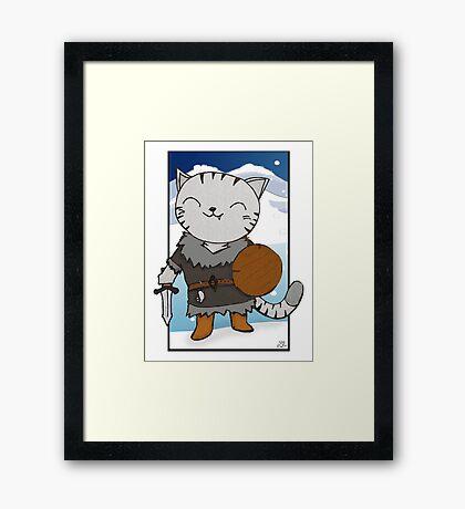 RPG Kitty Framed Print