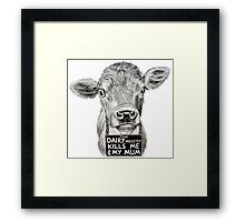 Stolen Lives. Stolen Milk. Framed Print