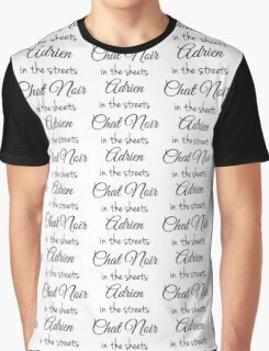 Chat Noir in the Sheets Graphic T-Shirt