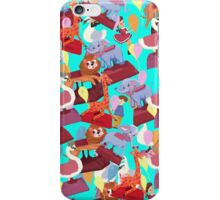 Carnival Chaos Blue  by Lollypop Arts iPhone Case/Skin