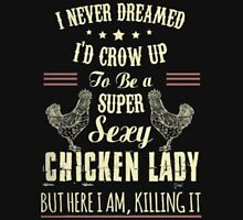 CHICKEN LADY Womens Fitted T-Shirt