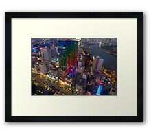 Skyline of Ho Chi Minh city by night, Vietnam Framed Print