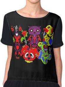 Sugar skull Zoo Chiffon Top