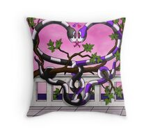 Hugs and Hisses Throw Pillow