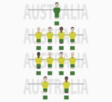 Cool Retro Australia soccer fussball design Baby Tee