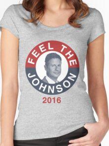 Gary Johnson Feel the Johnson Women's Fitted Scoop T-Shirt