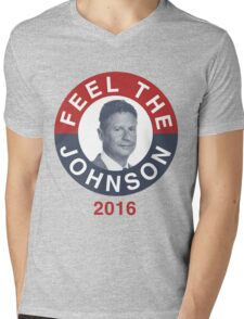 Gary Johnson Feel the Johnson Mens V-Neck T-Shirt
