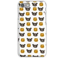 Bear And Honey Pot Pattern iPhone Case/Skin
