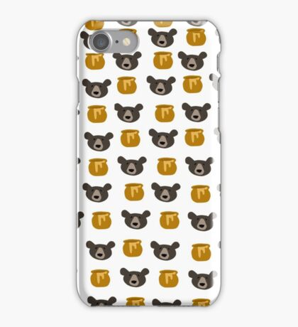 Bear And Honey Pot Pattern iPhone Case/Skin