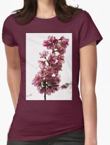 Study in Pink and White Womens Fitted T-Shirt