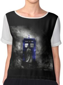 The Doctor and his blue box Chiffon Top