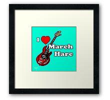 I Heart March Hare Framed Print