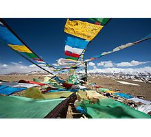 Praying flags in Tibet Photographic Print