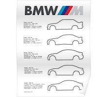 BMW ///M Lineup Poster