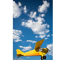 Yellow old airplane Photographic Print