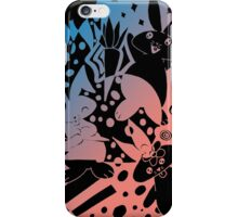 Cute Pink and Blue Bunnies iPhone Case/Skin