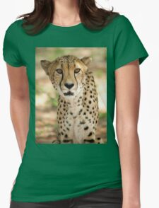 Cheetah in Harnas Womens Fitted T-Shirt