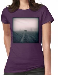 Distant Roads Womens Fitted T-Shirt