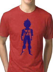Saiyan warrior (Blue) Tri-blend T-Shirt