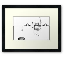Robot Scene - 3 Framed Print