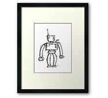 Insert the robot Framed Print