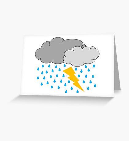 Thunder & Lightening   Greeting Card