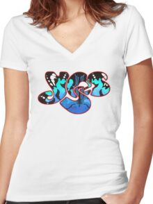 YES BAND ARTWORK Women's Fitted V-Neck T-Shirt