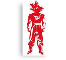 Saiyan warrior (Red) Canvas Print