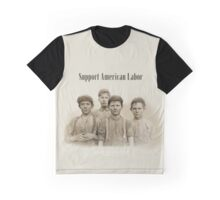 Lewis Wickes Hine  Doffer Boys - Child Labor - Support American Labor Graphic T-Shirt